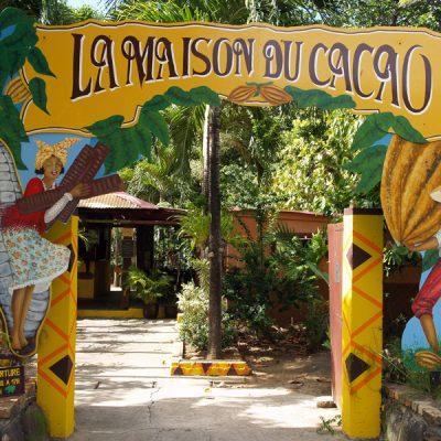Guadeloupe. Kakaohaus