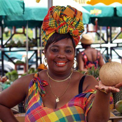 Guadeloupe. Marktfrau