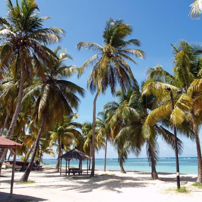 Guadeloupe. Strandszene
